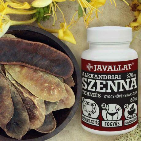 JAVALLAT® Szenna termés kapszula - SonicFine® gyógynövényporból