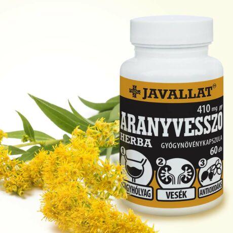 JAVALLAT® Aranyvessző herba kapszula - SonicFine® gyógynövényporból
