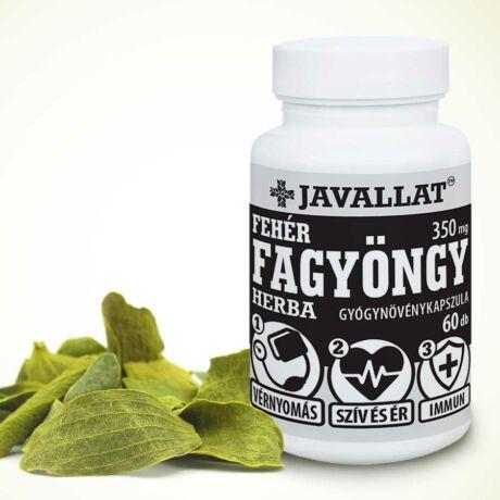 JAVALLAT® Fehér fagyöngy herba kapszula - SonicFine® gyógynövényporból