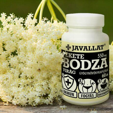 JAVALLAT® Fekete bodza virág kapszula - SonicFine® gyógynövényporból