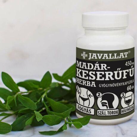 JAVALLAT® Madárkeserűfű herba kapszula - SonicFine® gyógynövényporból