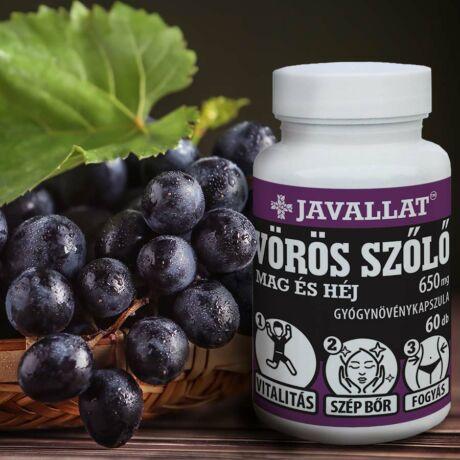 JAVALLAT® Vörös szőlő mag és héj kapszula - SonicFine® szuperinfom instant gyógynövényporból